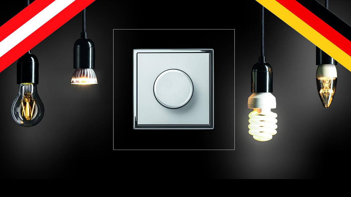 Energiesparendes Dimmen kann so einfach sein – mit dem JUNG LED-Universal-Drehdimmer. Intuitiv zu bedienen und mit speicherbaren Einstellungen.